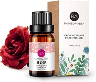 Rose Essential Oil 100% Pure Organic Therapeutic Grade Rose Oil for Diffuser, Sleep, Perfume, Massage, Skin Care, Aromathe...