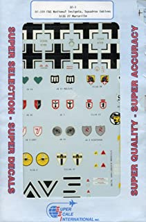 Superscale Decals 1:32 Bf-109 F&G National Insignia Emblems 3/JG 27 #32-1