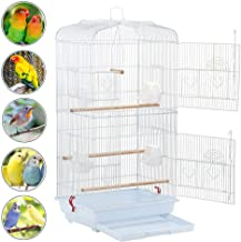 Yaheetech 36-inch Portable Hanging Medium Flight Bird Cage for Small Parrot Cockatiel Sun Quaker Parakeet Green Cheek Conure Parrotlet Finch Canary Budgie Lovebird Travel Bird Cage