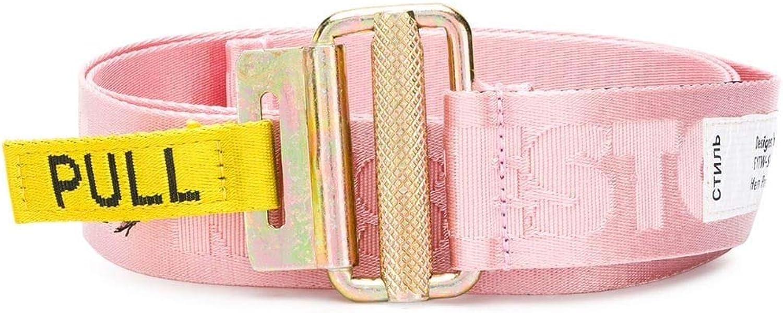 Heron Preston Women's HWRB001E186200502626 Pink Polyamide Belt