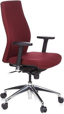 hjh OFFICE 710004 Silla de oficina SKAVE 200 tejido color burdeos, ergonómico, alta calidad