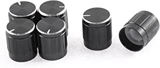 uxcell Lamp Dimmer Control Rotary Knob Cap 15 x 17mm 6Pcs Black