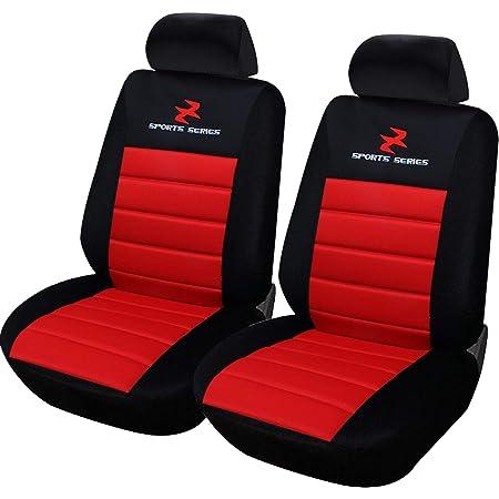 Esituro Scsc0078 2er Einzelsitzbezug Universal Sitzbezüge Für Auto Schonbezug Schoner Dicke Gepolstert Rot Auto
