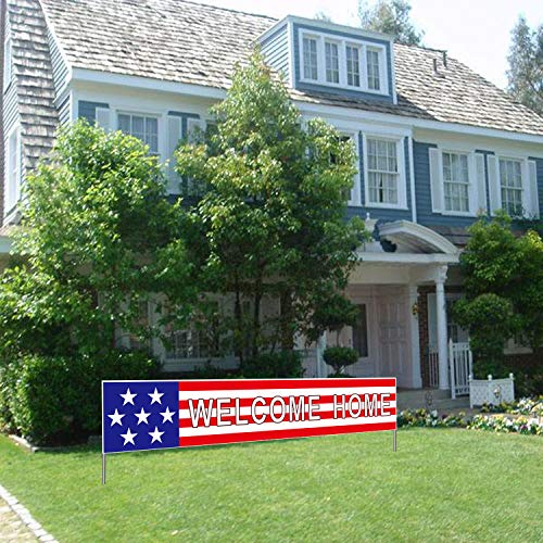 YETHAN Welcome Home Banner, Deployment Returning Back Military Army Large Party Decorations