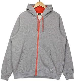 Generies Men's Large Size Oversized Grey Hooded Hoodie Jacket Loose