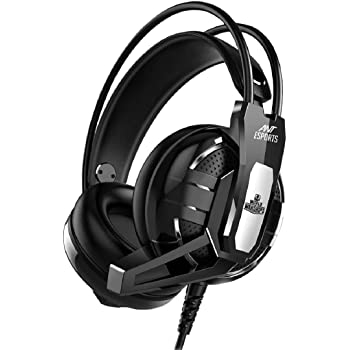 Ant Esports H520W Gaming Headset for PC / PS4 / Xbox One, Nintendo Switch, Computer and Mobile, World of Warships Edition– Black