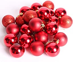 PIXNOR 24Pcs Christmas Balls Ornaments for Tree Decoration
