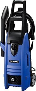 HiKOKI(ハイコーキ) 旧日立工機 フォームボトル タイヤブラシ 洗浄ブラシ付  家庭用高圧洗浄機 水道接続式 AC100V 1200W 10m高圧ホース付 ブルー FAW105(SC)