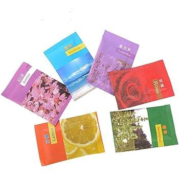EOPER - 50 bolsitas perfumadas de vainilla para cajones, ropa, armarios, baños y coches: Amazon.es: Hogar