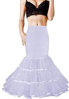 Shimaly Women Mermaid Petticoat Fishtail Underskirt Trumpet Crinoline for Mermaid Wedding Dress