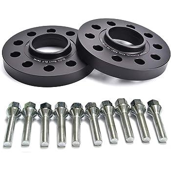 4 20mm Hubcentric Black Wheel Spacers 5x110 CB 65.1 M12x1.5 fit Saab 9-3 9-5