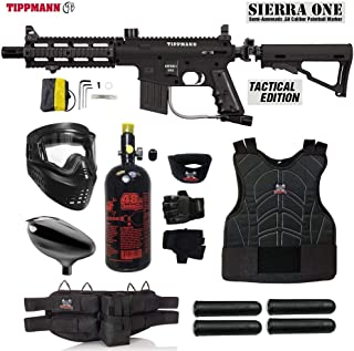 MAddog Tippmann Project Salvo Sierra One Starter Protective HPA Paintball Gun Package