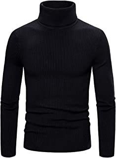 AOWOFS Men's Casual Slim Fit Pullover Knitted Turtleneck Thermal Sweaters