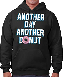 Brisco Brands Another Day Another Donut Funny Sweet Tooth Hoodie