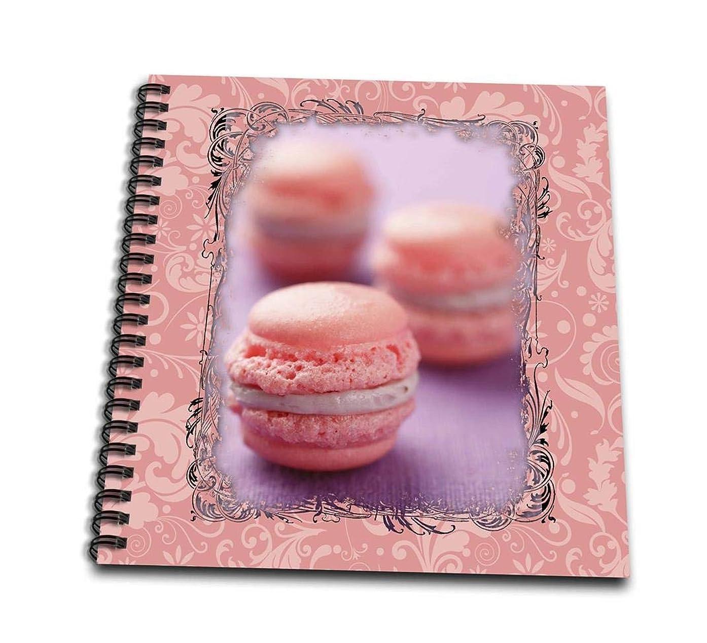 3dRose db_149992_1 Pink Macaroons Drawing Book, 8