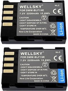 WELLSKY DMW-BLF19 [ 2個セット ] 互換バッテリー [ 純正充電器で充電可能 残量表示可能 純正品と同じよう使用可能 ] パナソニック LUMIX ルミックス DMC-GH3 / DMC-GH3A / DMC-GH3H / DMC-GH4 / DMC-GH4 / DC-GH5 / DC-GH5s / DC-G9 / DC-GH5-K / DC-GH5M-K / DMW-BGGH3 / DMW-BGGH5