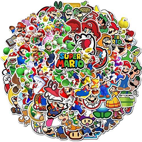 Aufkleber für Kinder, Cartoon-Motiv, Super Mario, wasserdicht, für Laptop, Fahrrad, Helm, Auto, 15 Stück