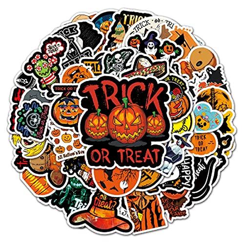 Adesivi di Halloween per Bambini Adesivi Impermeabili da 50 pezzi per Album di Bottiglie D'acqua Adesivi di Halloween per Adulti Adesivi di Zucca per Adolescenti