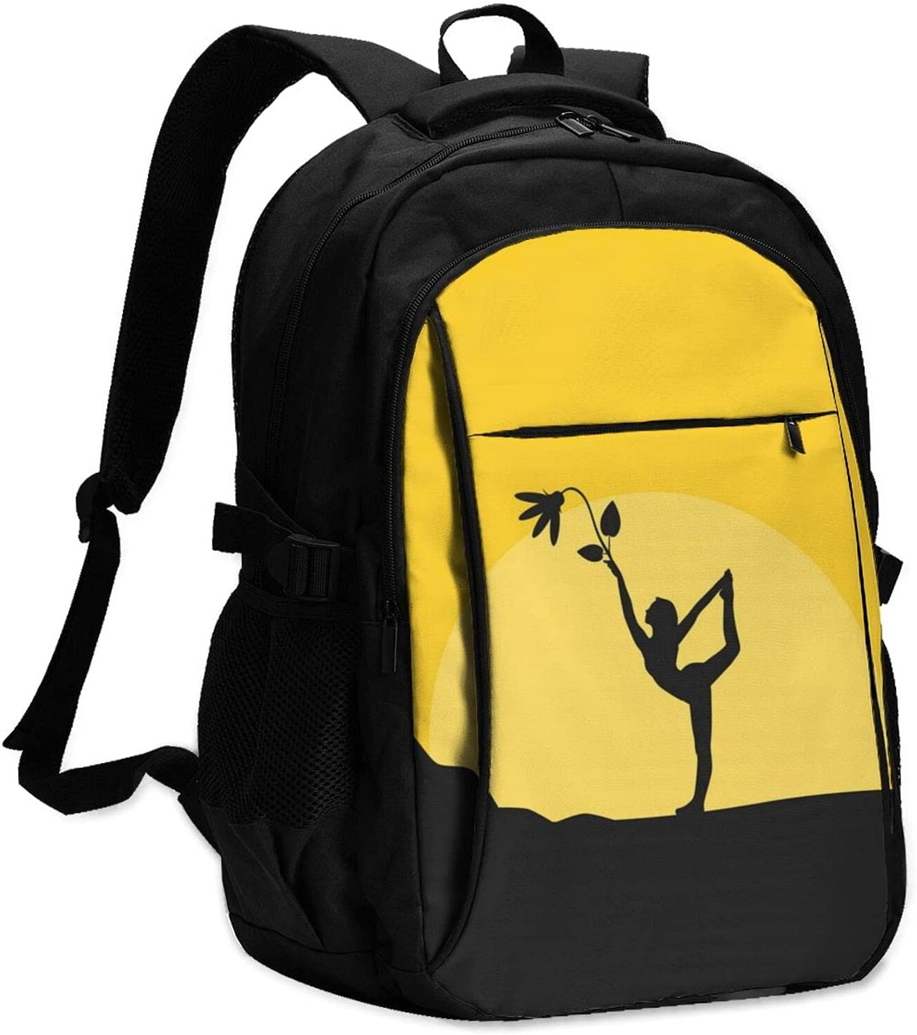 Buibuhii Yoga Sunset Laptop Backpack Usb For 2021 model Port Complete Free Shipping With Charging