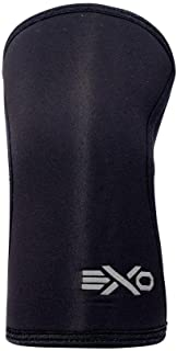 EXO 7mm Compression Knee Sleeves Designed with Triple-Reinforcement and Anti-Microbial Neoprene, Sold as 1 Pair