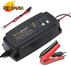 12V Battery Charger 2A 4A 8A 7-Stage CE Approved Fast AGM/SLA/Gel Sealed Lead Acid Battery Charger Electric Lawn Mower or Garden