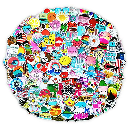 Read About 200 PCS Stickers Pack (50-500Pcs/Pack), Colorful Waterproof Stickers for Hydro Flask, Lap...