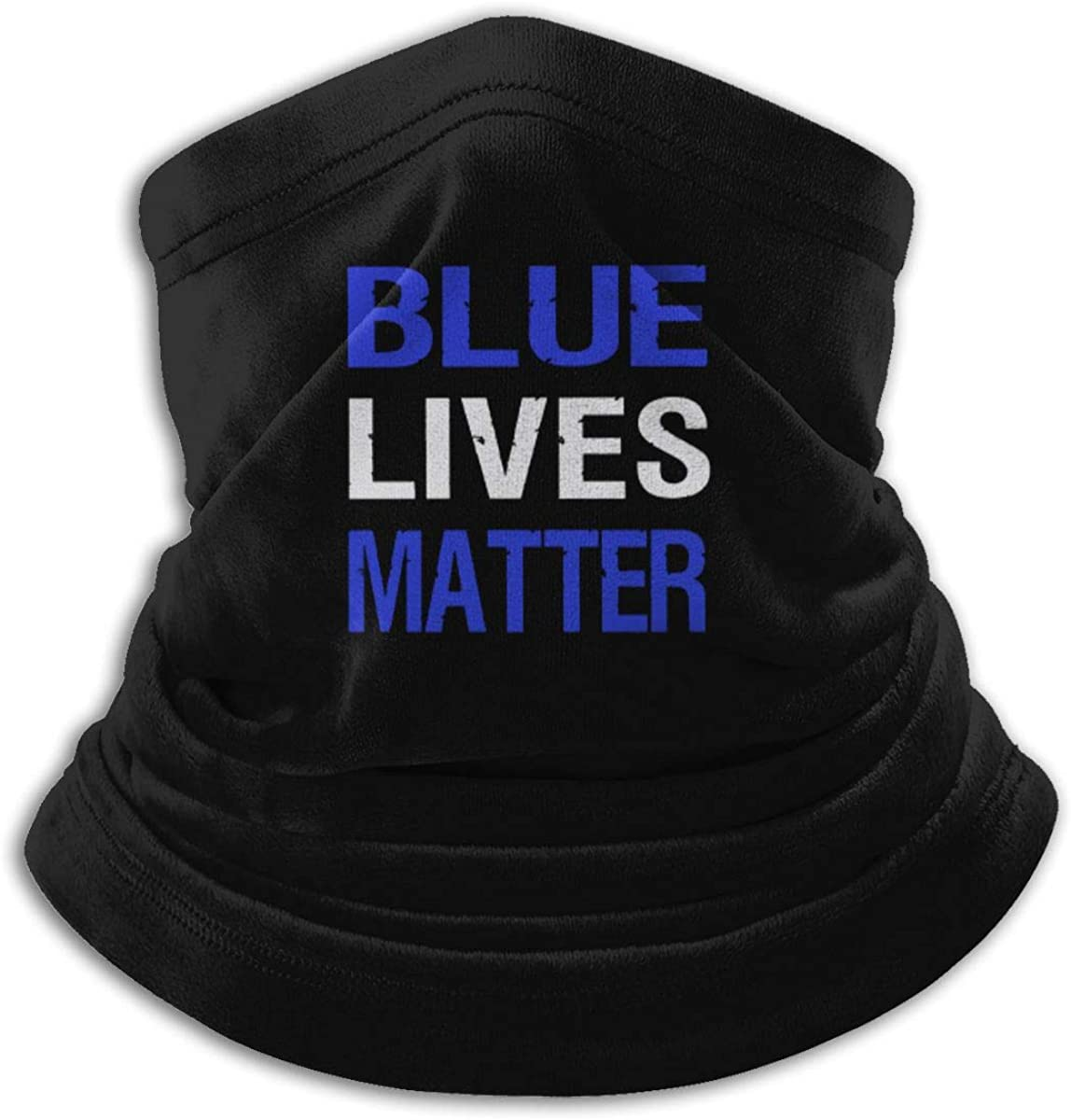Peace Officers Memorial Day Black Multi-function Neck Warmer Gaiter Polyester Neck Warmer Windproof Winter Neck Gaiter Cold Weather Scarf For Men Women