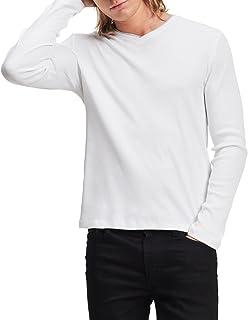 Calvin Klein Men's Long Sleeve Rib Knit T-Shirt