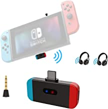 Bluetooth Transmitter Adapter for Nintendo Switch Lite & TV Dock, Friencity Low Latency Wireless Audio Dongle w/USB C to A...