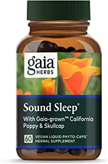 Gaia Herbs, Sound Sleep, Sleep Support, Non Habit Forming Herbal Sleep Aid, Kava Kava Root, Passionflower, Skullcap, Calif...
