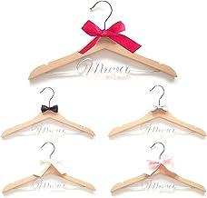 micia luxury オリジナル 名入れ ハンガー 木製 全5色 出産祝い 内祝い 誕生日 プレゼント ギフト リボン