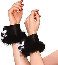 Black Marabou Bunny Cuffs