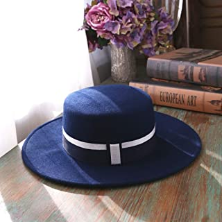 YANGBM Women's Woolen Hat, Spring and Autumn Wild Lady Hat, Suitable for Any Outdoor and Indoor Activities (Color : Blue)