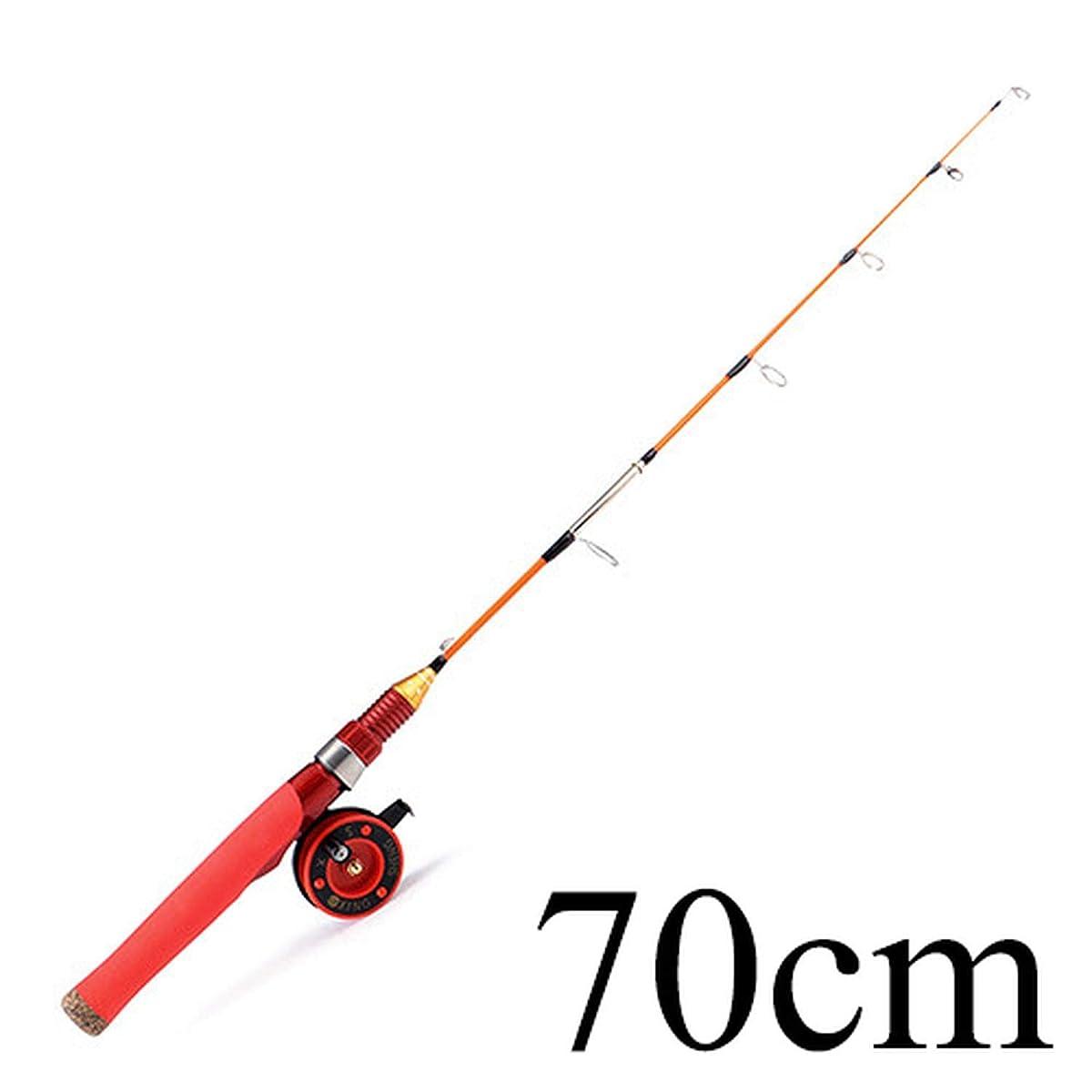 CC-Flashlights Winter Ice Fishing Rod Hard Rod with Ice Fishing Reel Set C.W. 20-40G Winter Ice Fishing Rod Carp Fishing