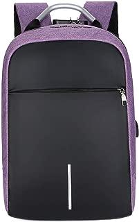 FANDARE Unisex Laptop Backpack Business Travel Daypack with USB Earphone Port College Computer School Bag Knapsack for Women Men fits 14 Inch Notebook Waterproof Polyester Purple