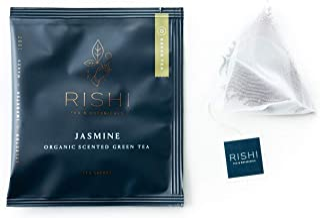 Rishi Tea Jasmine Green Herbal Tea | Immune Support, USDA Certified Organic, Fair Trade Green Tea, Caffeinated, Floral Aro...