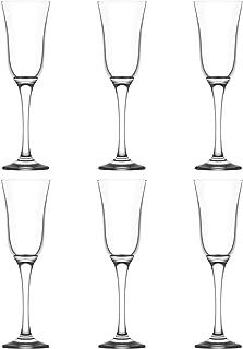 LAV Vals Champagne Flutes Set - Vintage Flute Glasses for Sparkling Wine - 190ml - Pack of 6
