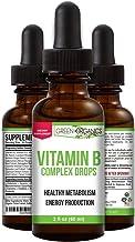 Green Organics Vitamin B Complex Liquid Drops to Support Energy, Vitality, and Immunity Health (2 Fl Oz)