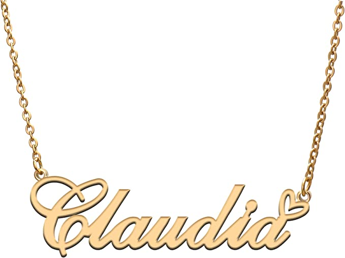 Claudia Couple Name Necklace Choker Necklaces For Women