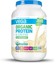 Vega Organic Protein and Greens Powder, Vanilla, 26 Servings, 2.2 Pounds, Packaging May Vary