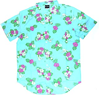 Rick and Morty Adult Unisex Hawaiian Floral Dancing Light Weight Button Up Shirt
