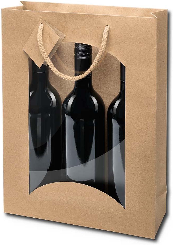 20x 3er Flaschentragetaschen, Geschenktasche, Kraftpapier, 258,5x36 cm, Natur Natur Natur B01DBVBX9G | Preisreduktion  cb7c0e
