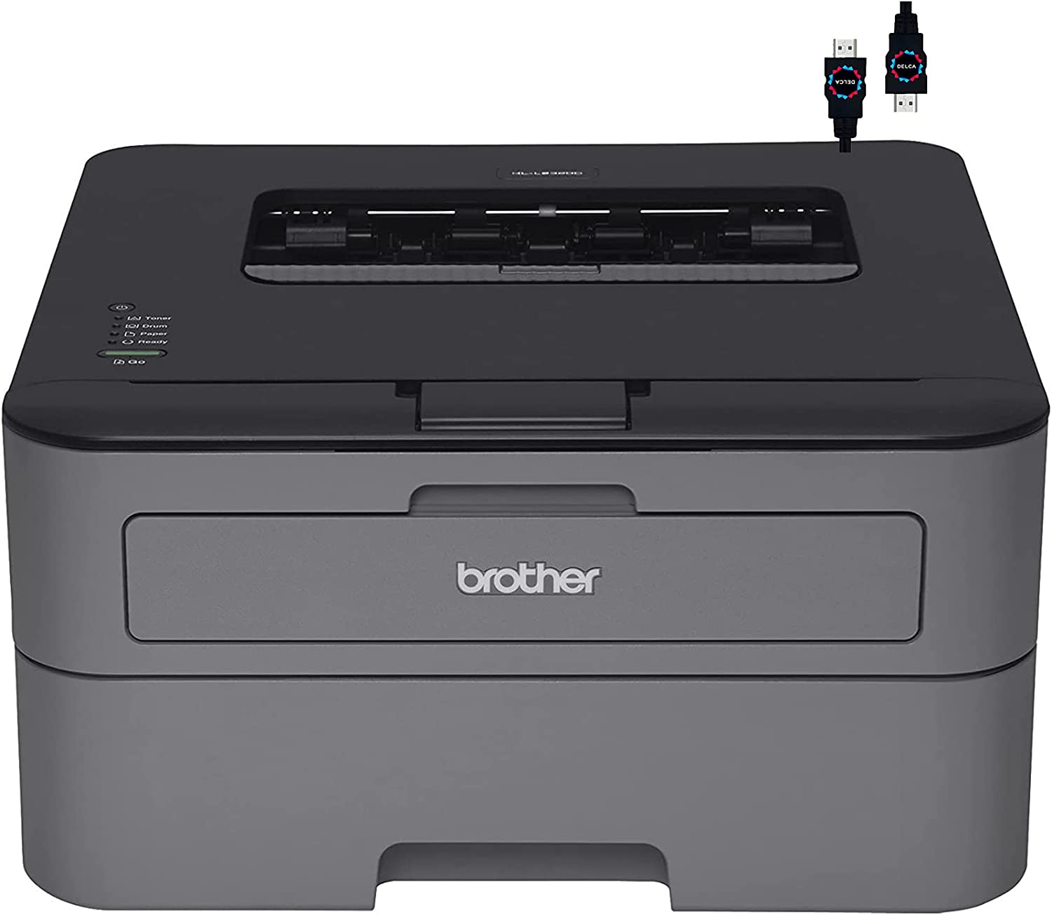 Brother Premium HL L23 Series Compact Monochrome Laser Printer I Auto 2-Sided Printing I Up to 26 Pages/min I 250-sheet/tray I 2400 x 600 dpi I 27ppm + HDMI Cable