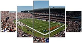 ZZXINK NFL football Chicago Bears stadium 5 piece canvas wall art Oil Painting HD Print On Canvas Modern Decoration Wall Art Framed