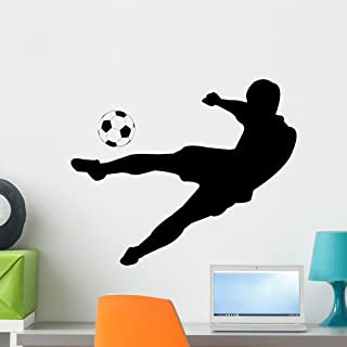 Wallmonkeys Soccer Silhouettes Wall Decal Peel and Stick Graphic WM25499 (24 in W x 20 in H)