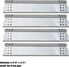 Direct store Parts DP130 (4-pack) Stainless Steel Heat Shield / Heat Plates Replacement Sunbeam, Nexgrill, Grill Master, Charbroil , Kenmore, Kitchen Aid, Members Mark, Uberhaus, Gas Grill Models (4)