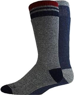 Dickies mens 2 Pairs Wool-blend, Heavy Weight Thermal Crew Socks