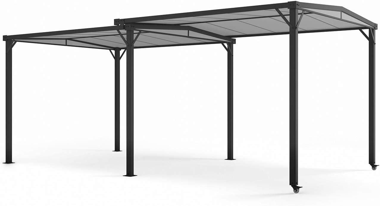 blumfeldt Pantheon Solid Sky Expand - Pérgola de jardín, Extensible, Estructura Aluminio, Revestimiento en Polvo, Techo de policarbonato Impermeable, ...