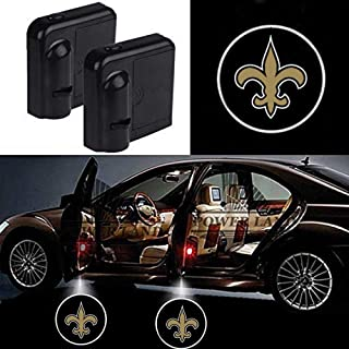 For New Orleans Saints Car Door Led Welcome Laser Projector Car Door Courtesy Light Suitable Fit for all brands of cars(New Orleans Saints)