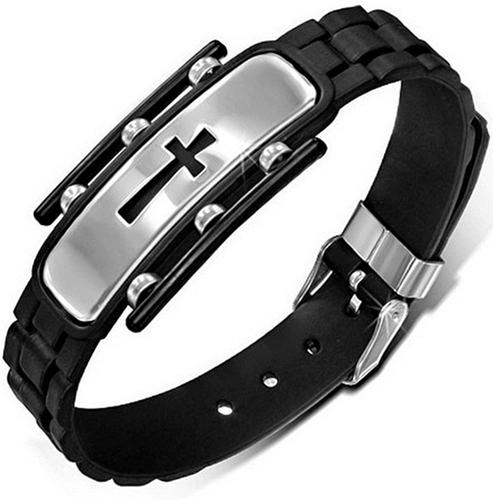 My Daily Styles Stainless It is very popular Steel Reli Silicone Latin Black Animer and price revision Rubber